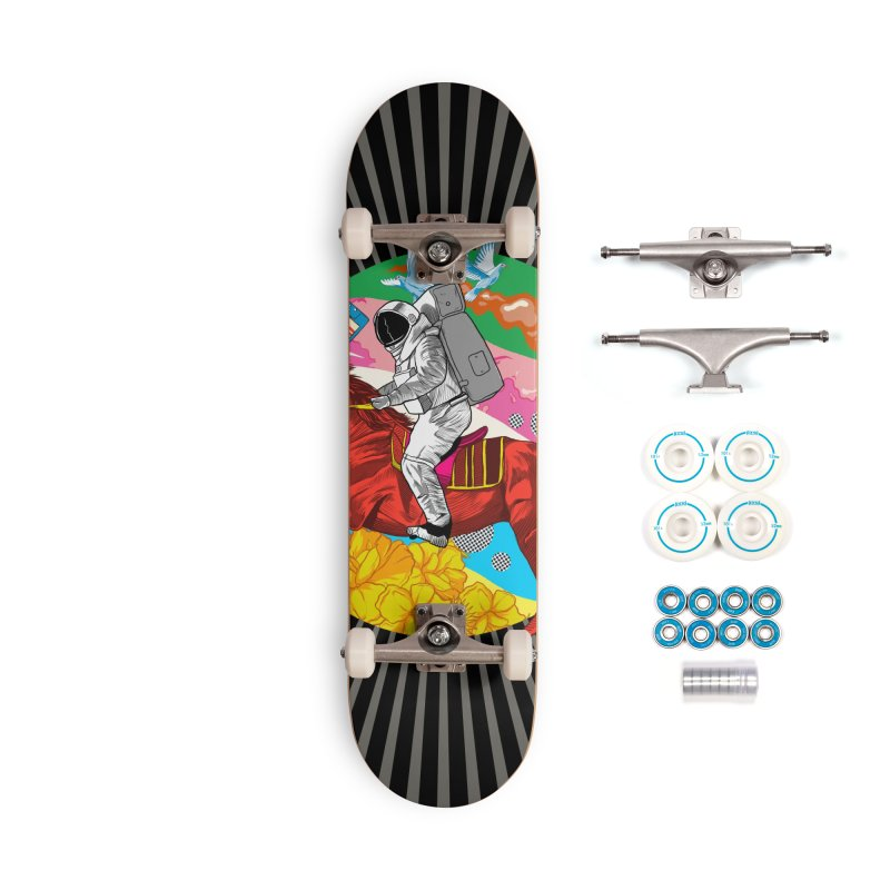 Psychedelic Space Journey Accessories Complete - Basic Skateboard by RJ Artworks's Artist Shop