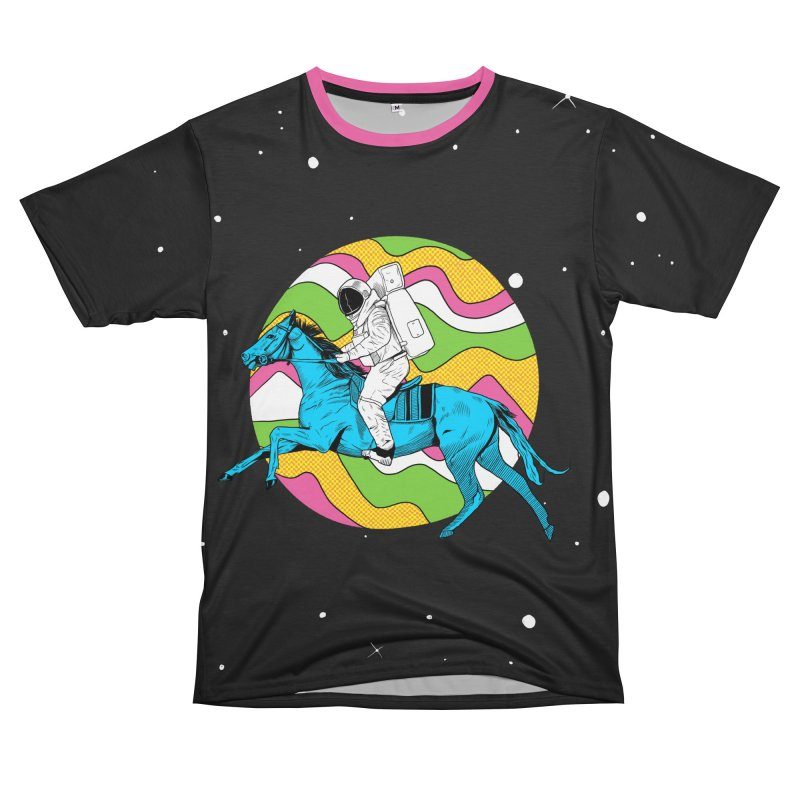 Space Cowboy Men's T-Shirt Cut & Sew by RJ Artworks's Artist Shop
