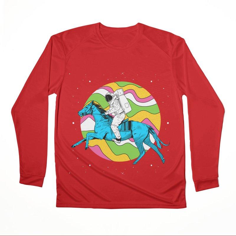 Space Cowboy Men's Performance Longsleeve T-Shirt by RJ Artworks's Artist Shop