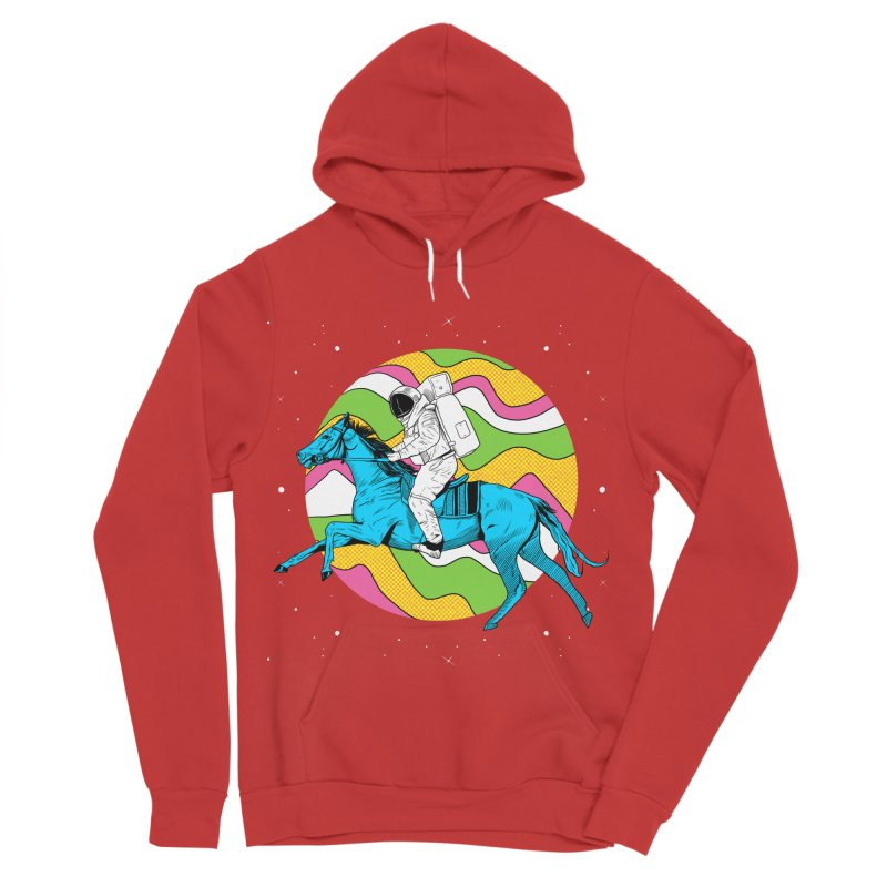 Space Cowboy Women's Sponge Fleece Pullover Hoody by RJ Artworks's Artist Shop