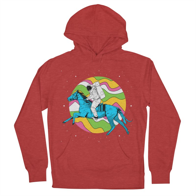 Space Cowboy Men's French Terry Pullover Hoody by RJ Artworks's Artist Shop