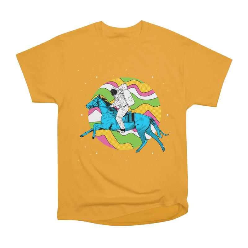 Space Cowboy Men's Heavyweight T-Shirt by RJ Artworks's Artist Shop