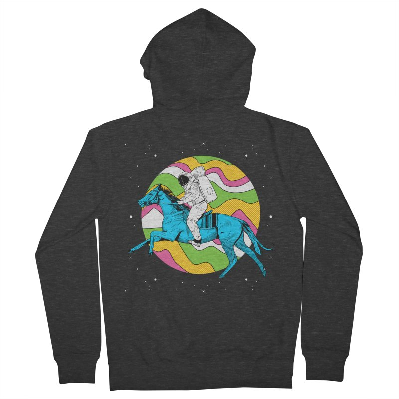 Space Cowboy Women's French Terry Zip-Up Hoody by RJ Artworks's Artist Shop