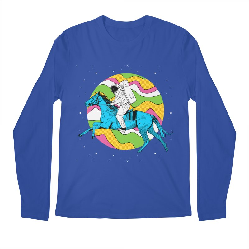 Space Cowboy Men's Regular Longsleeve T-Shirt by RJ Artworks's Artist Shop