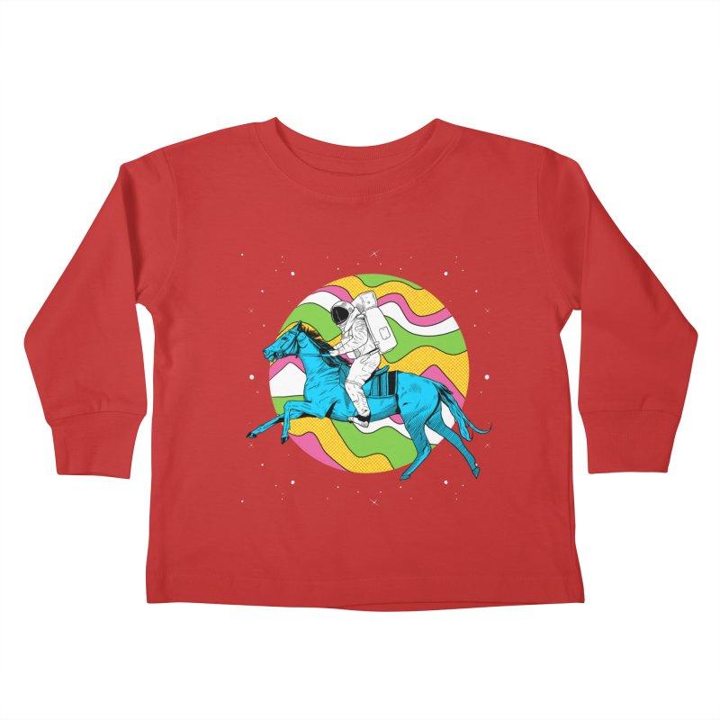 Space Cowboy Kids Toddler Longsleeve T-Shirt by RJ Artworks's Artist Shop
