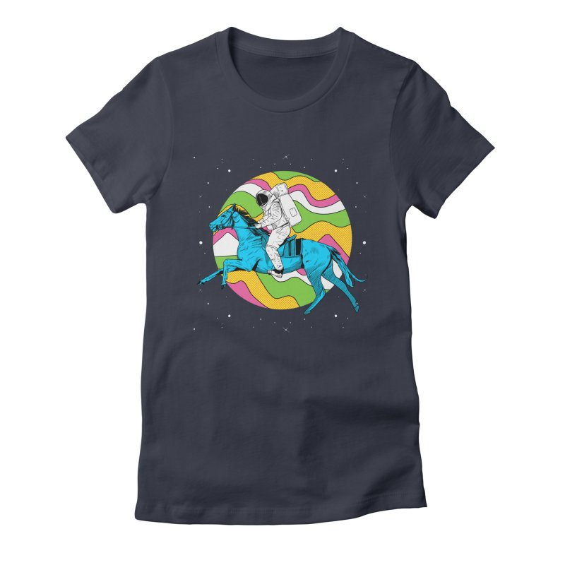 Space Cowboy Women's Fitted T-Shirt by RJ Artworks's Artist Shop