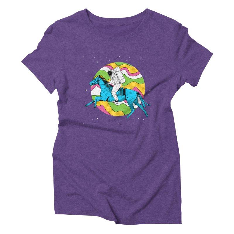 Space Cowboy Women's Triblend T-Shirt by RJ Artworks's Artist Shop