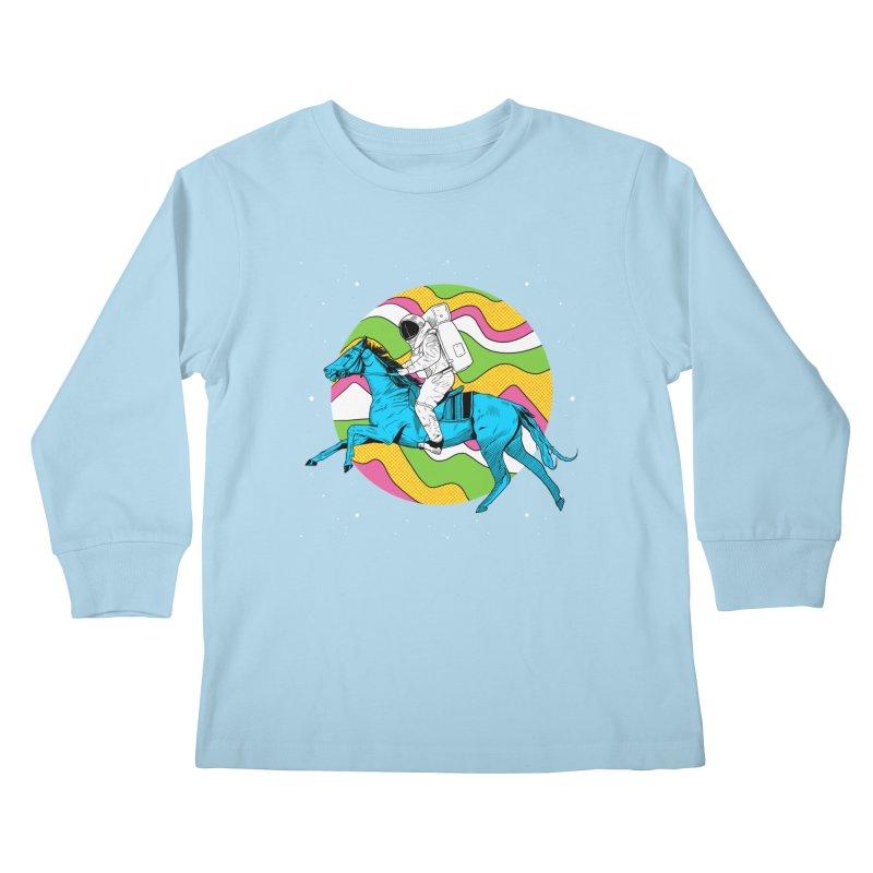 Space Cowboy Kids Longsleeve T-Shirt by RJ Artworks's Artist Shop