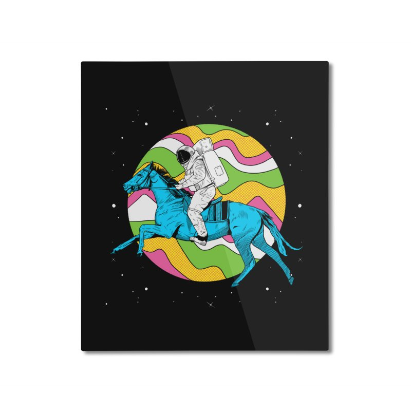 Space Cowboy Home Mounted Aluminum Print by RJ Artworks's Artist Shop