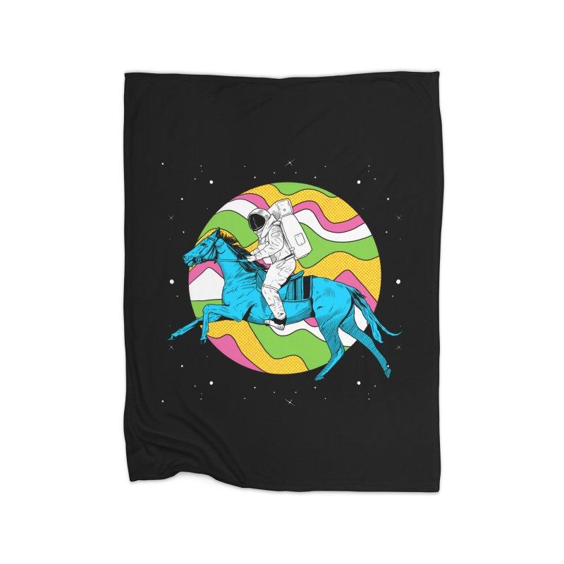 Space Cowboy Home Fleece Blanket Blanket by RJ Artworks's Artist Shop