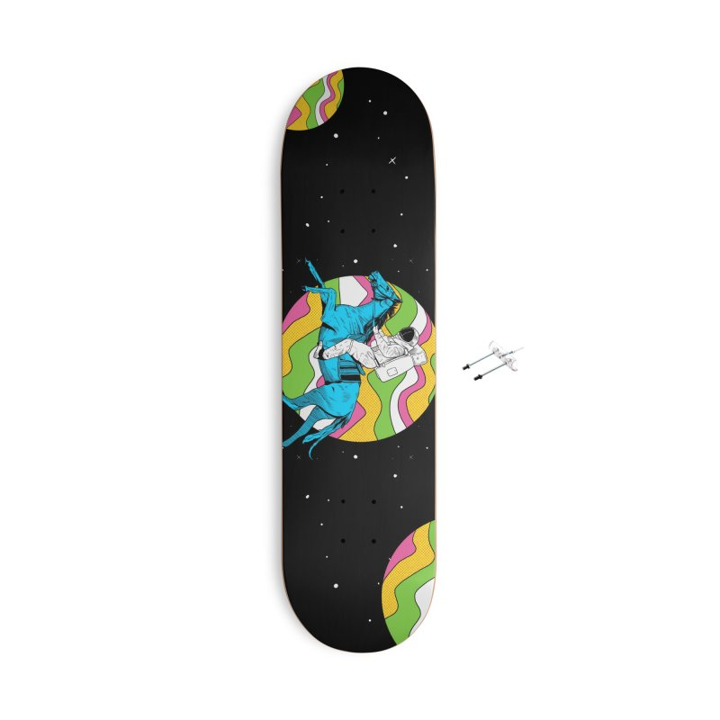 Space Cowboy Accessories With Hanging Hardware Skateboard by RJ Artworks's Artist Shop