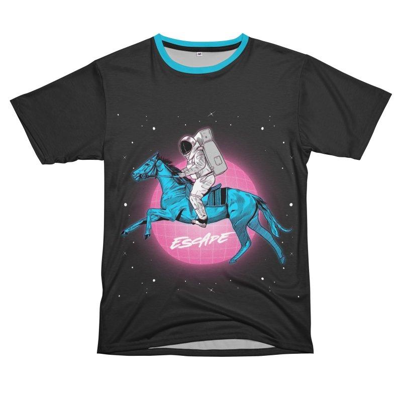 Retro Space Escapade Men's T-Shirt Cut & Sew by RJ Artworks's Artist Shop