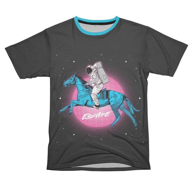 Retro Space Escapade Women's Unisex French Terry T-Shirt Cut & Sew by RJ Artworks's Artist Shop
