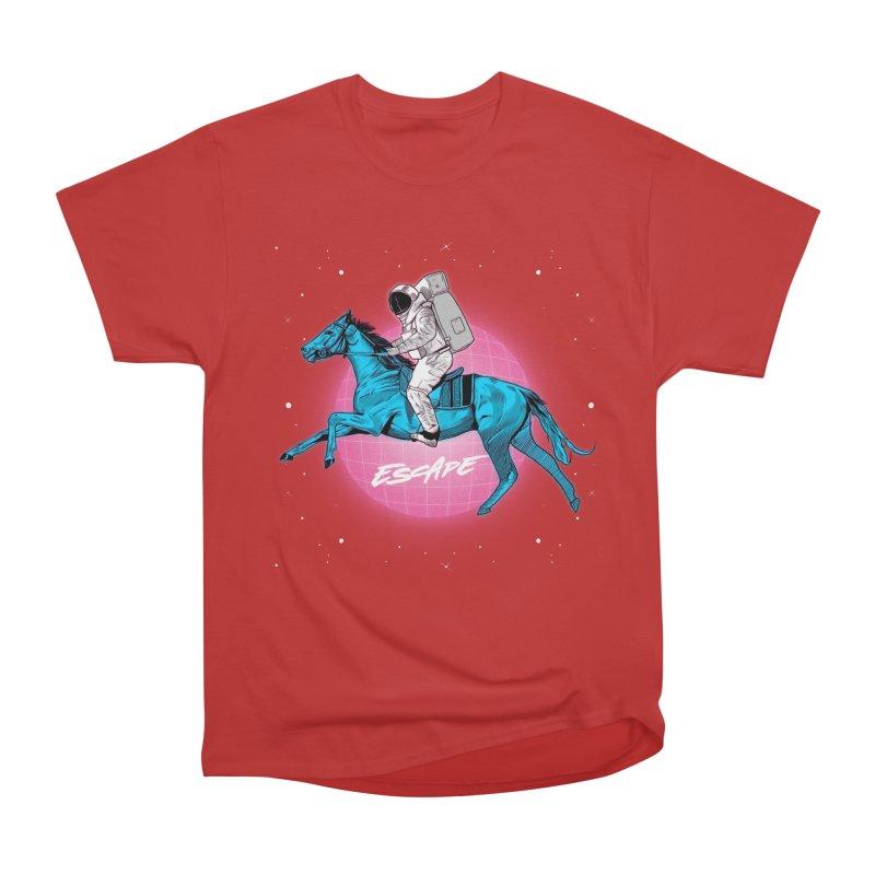 Retro Space Escapade Men's Heavyweight T-Shirt by RJ Artworks's Artist Shop