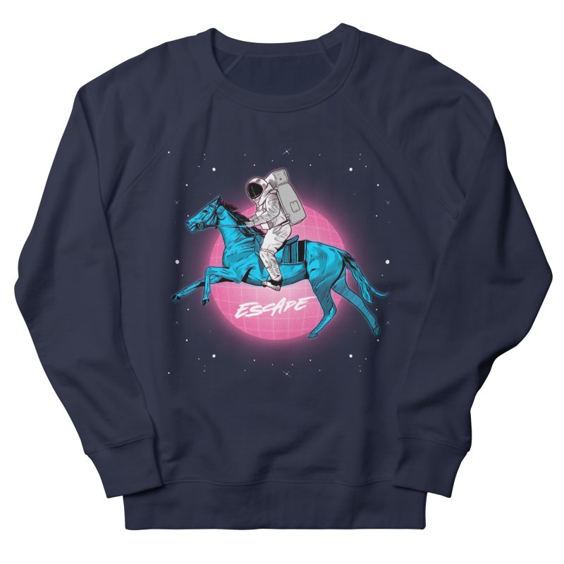 Retro Space Escapade Women's French Terry Sweatshirt by RJ Artworks's Artist Shop