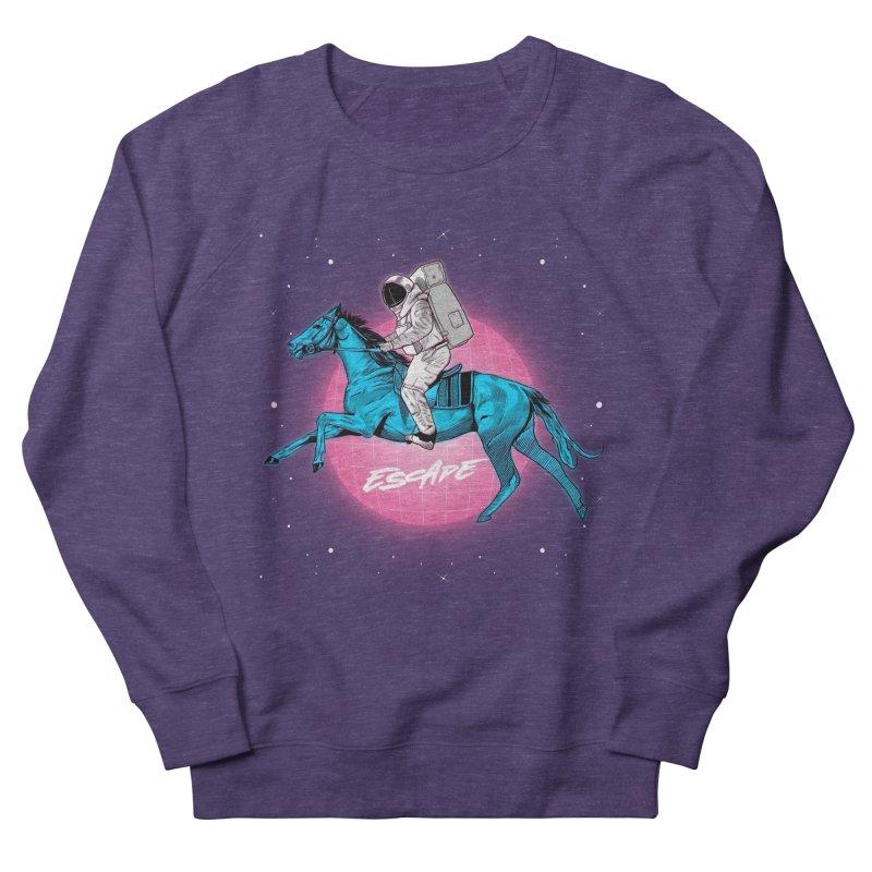 Retro Space Escapade Men's French Terry Sweatshirt by RJ Artworks's Artist Shop