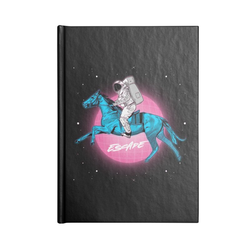 Retro Space Escapade Accessories Lined Journal Notebook by RJ Artworks's Artist Shop