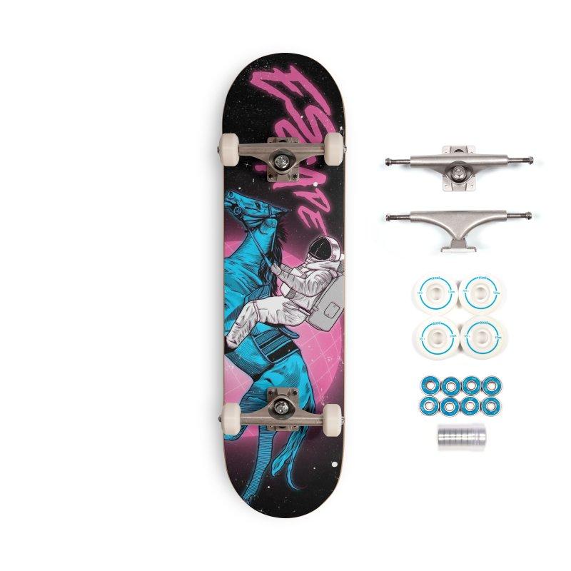 Retro Space Escapade Accessories Complete - Basic Skateboard by RJ Artworks's Artist Shop