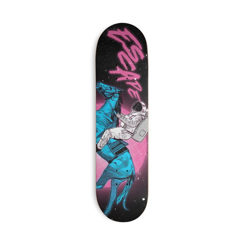 Retro Space Escapade Accessories Deck Only Skateboard by RJ Artworks's Artist Shop