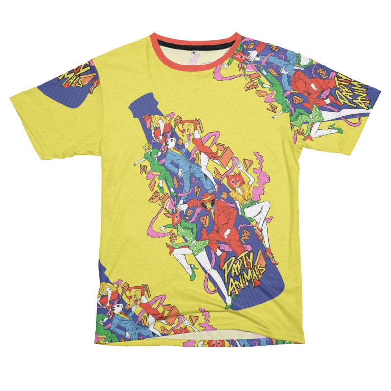 Party Animals Men's French Terry T-Shirt Cut & Sew by RJ Artworks's Artist Shop