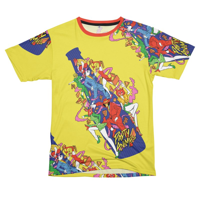 Party Animals Men's T-Shirt Cut & Sew by RJ Artworks's Artist Shop