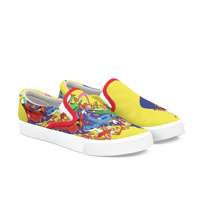 Party Animals Women's Slip-On Shoes by RJ Artworks's Artist Shop