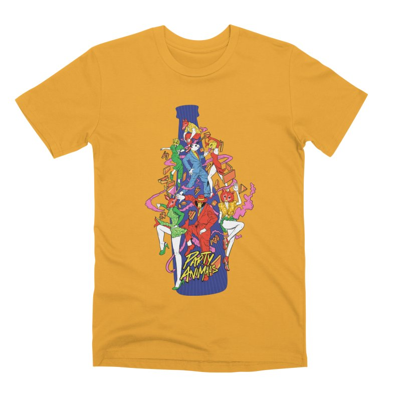 Party Animals Men's Premium T-Shirt by RJ Artworks's Artist Shop