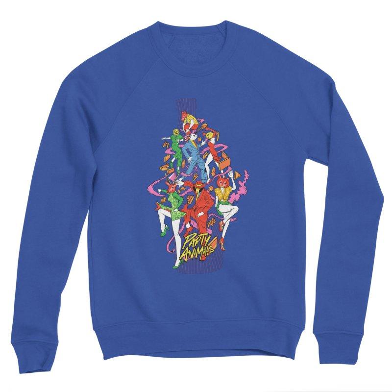 Party Animals Men's Sponge Fleece Sweatshirt by RJ Artworks's Artist Shop