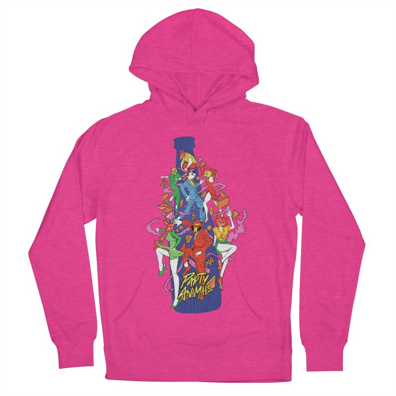 Party Animals Women's French Terry Pullover Hoody by RJ Artworks's Artist Shop