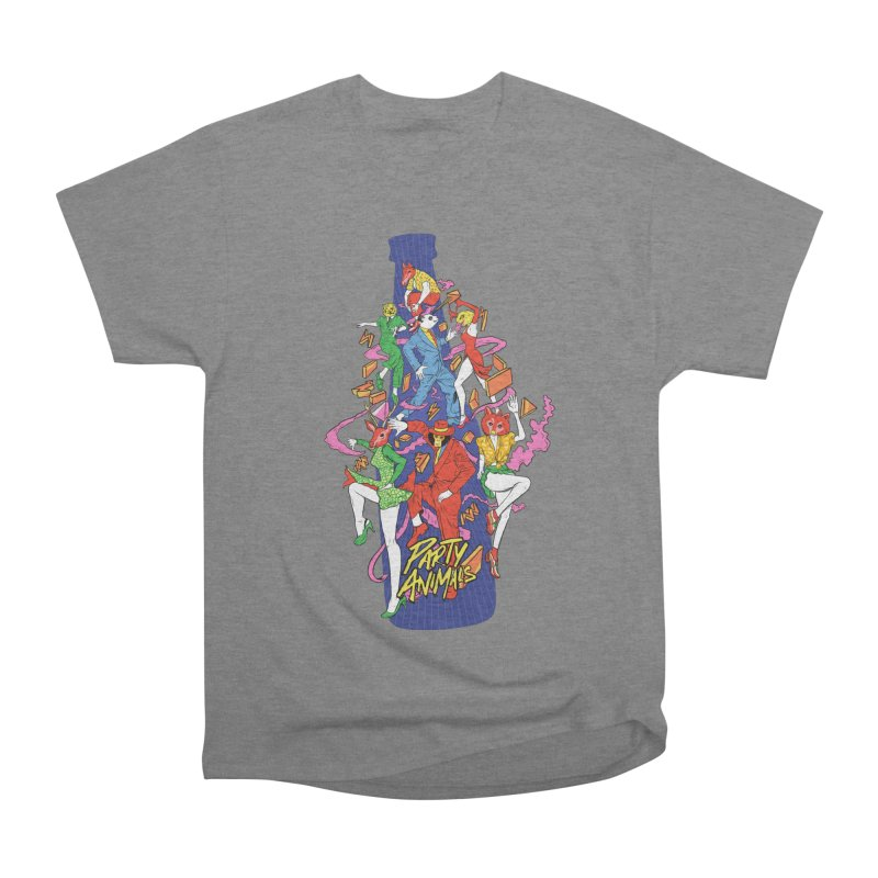 Party Animals Women's Heavyweight Unisex T-Shirt by RJ Artworks's Artist Shop