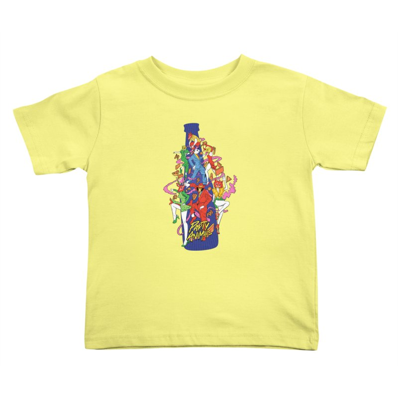 Party Animals Kids Toddler T-Shirt by RJ Artworks's Artist Shop