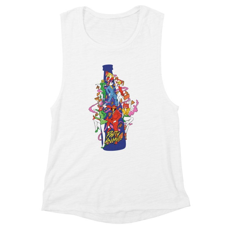 Party Animals Women's Muscle Tank by RJ Artworks's Artist Shop