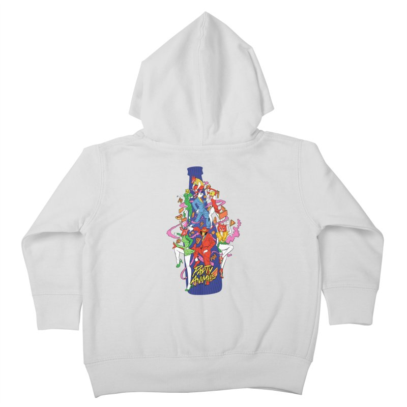 Party Animals Kids Toddler Zip-Up Hoody by RJ Artworks's Artist Shop