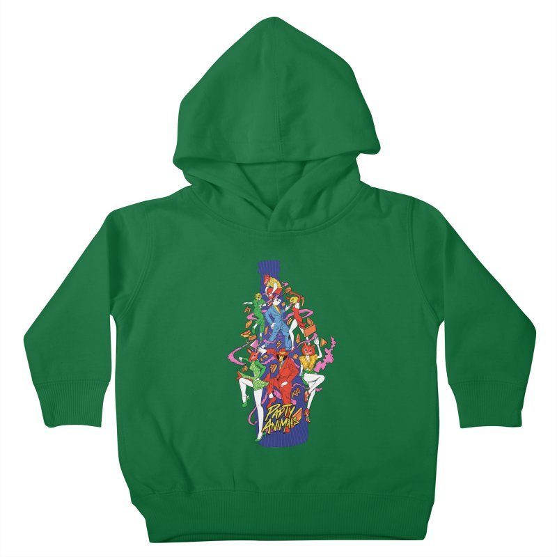 Party Animals Kids Toddler Pullover Hoody by RJ Artworks's Artist Shop