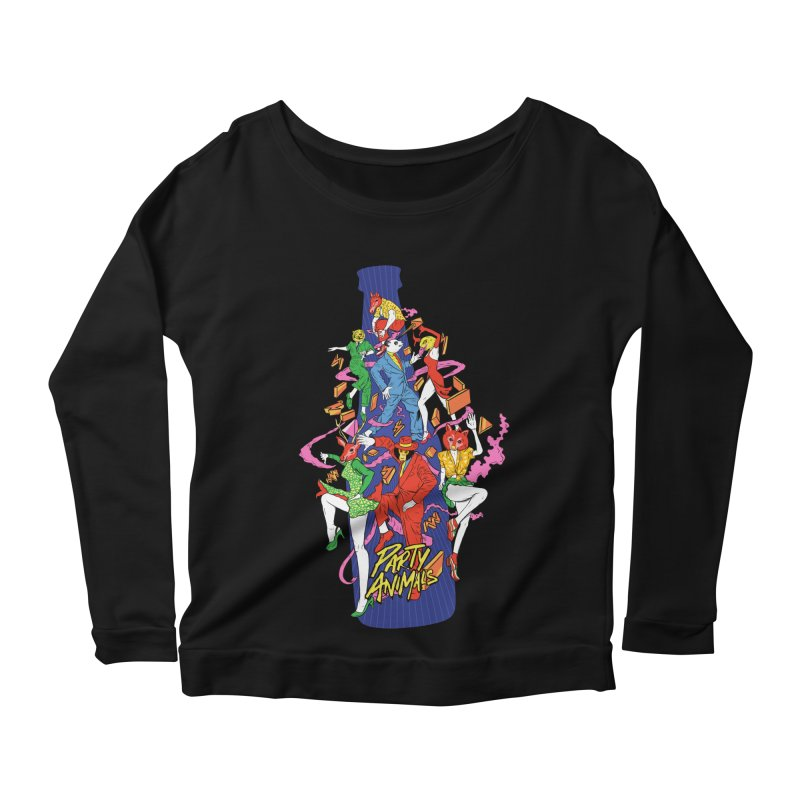 Party Animals Women's Scoop Neck Longsleeve T-Shirt by RJ Artworks's Artist Shop