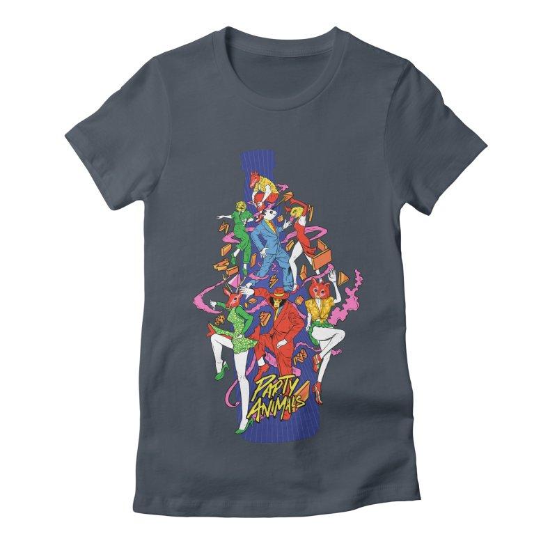 Party Animals Women's T-Shirt by RJ Artworks's Artist Shop
