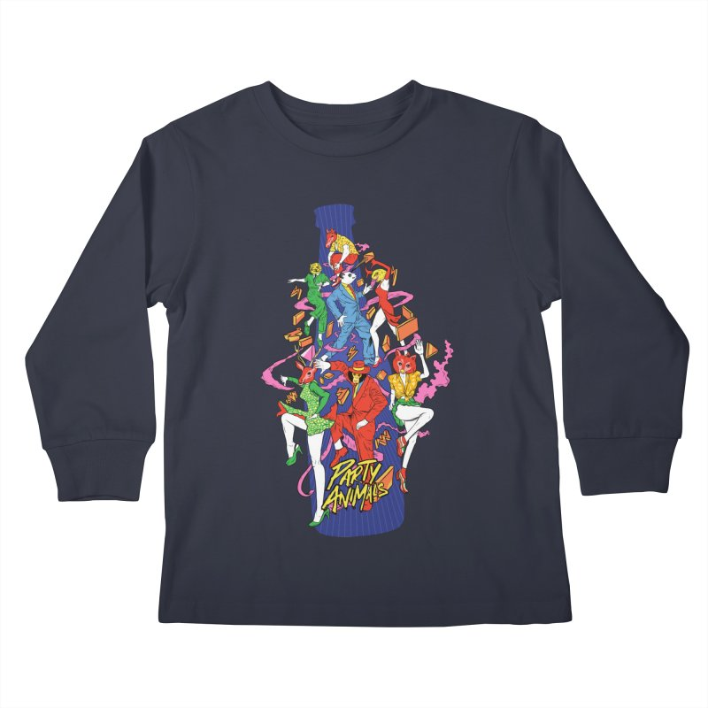 Party Animals Kids Longsleeve T-Shirt by RJ Artworks's Artist Shop