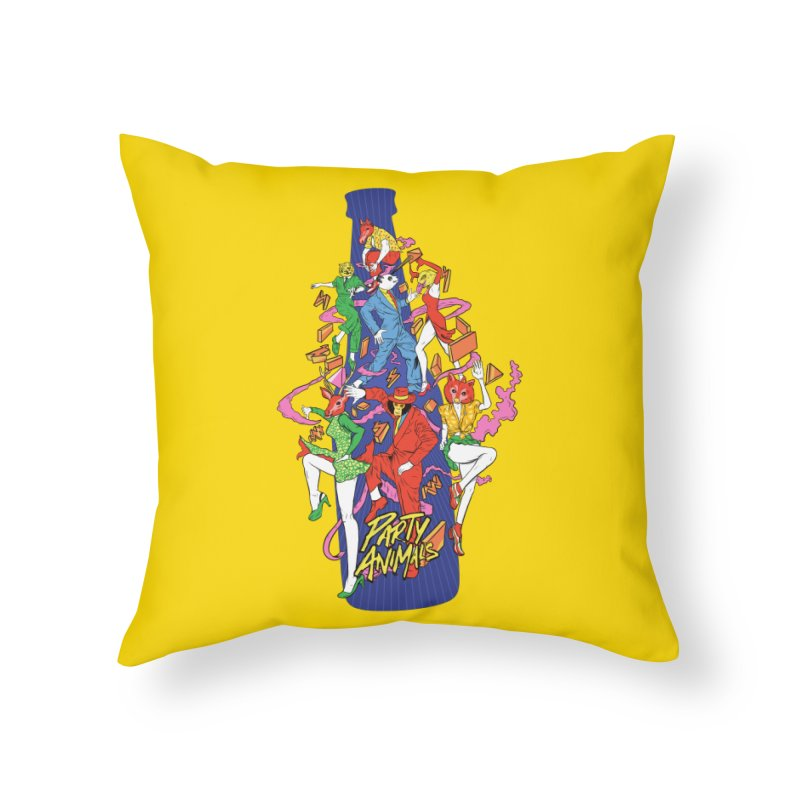 Party Animals Home Throw Pillow by RJ Artworks's Artist Shop