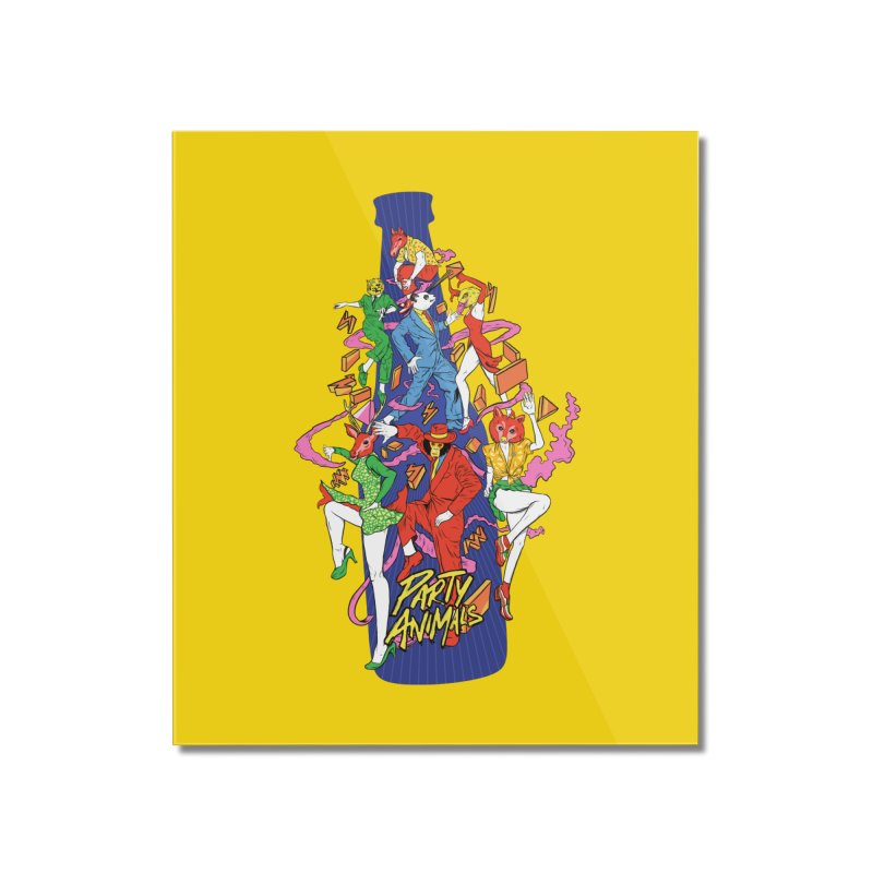 Party Animals Home Mounted Acrylic Print by RJ Artworks's Artist Shop