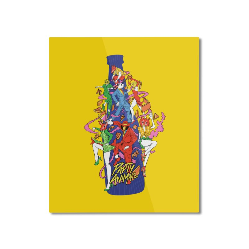 Party Animals Home Mounted Aluminum Print by RJ Artworks's Artist Shop