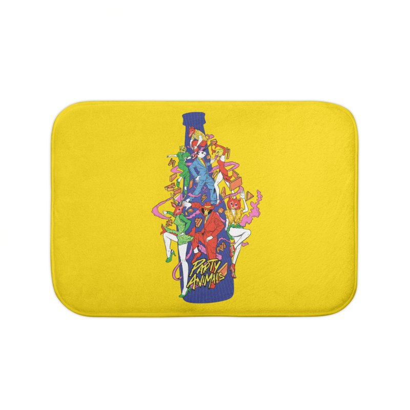 Party Animals Home Bath Mat by RJ Artworks's Artist Shop