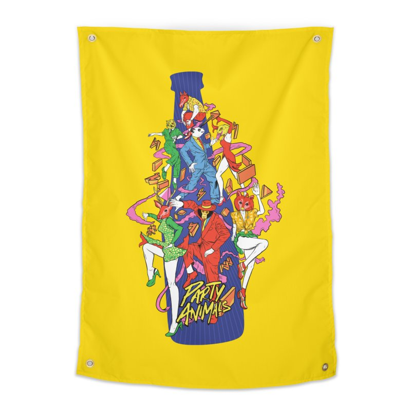 Party Animals Home Tapestry by RJ Artworks's Artist Shop