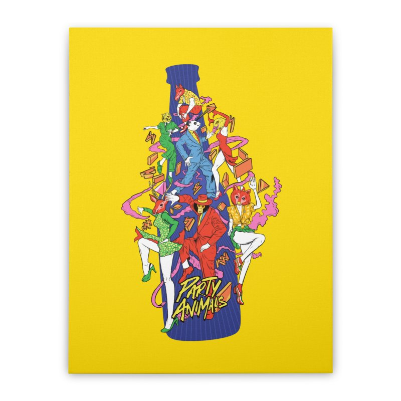 Party Animals Home Stretched Canvas by RJ Artworks's Artist Shop