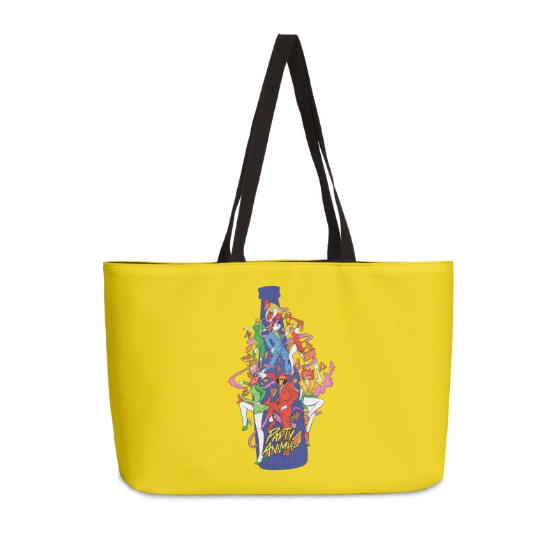 Party Animals Accessories Weekender Bag Bag by RJ Artworks's Artist Shop