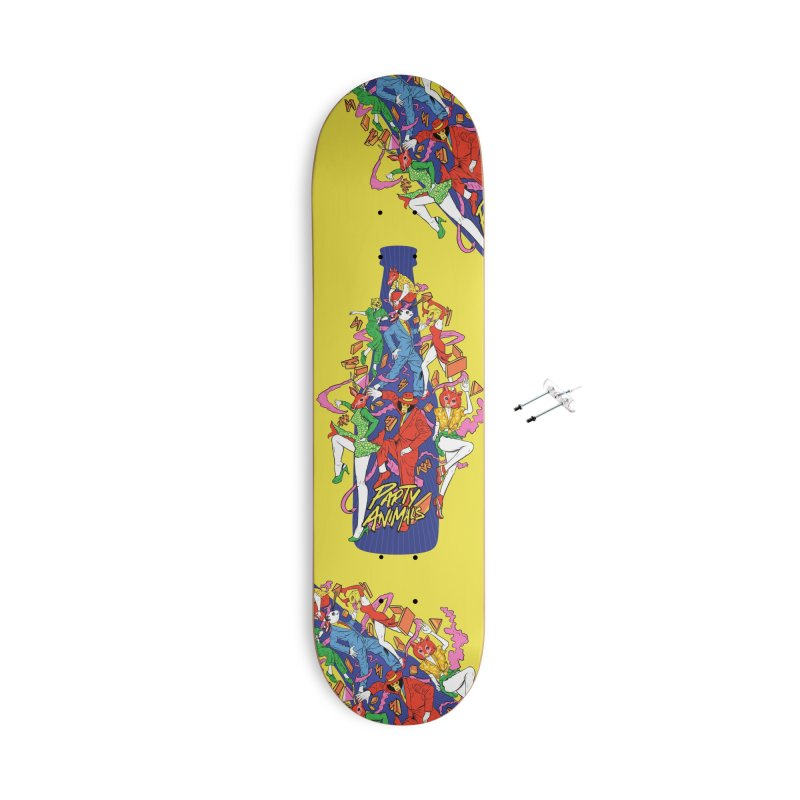 Party Animals Accessories With Hanging Hardware Skateboard by RJ Artworks's Artist Shop