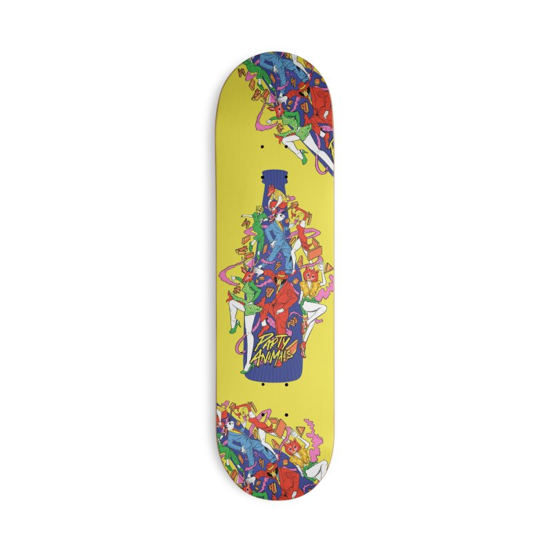 Party Animals Accessories Deck Only Skateboard by RJ Artworks's Artist Shop