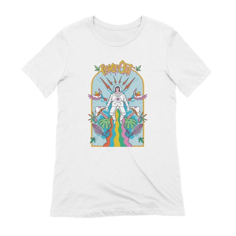 Peace Out Women's Extra Soft T-Shirt by RJ Artworks's Artist Shop