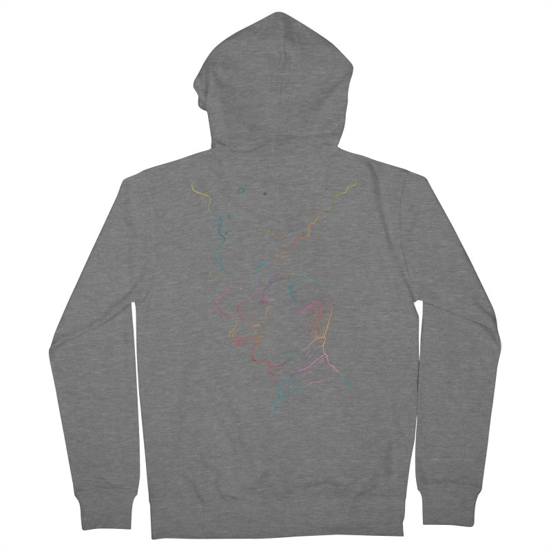 Sky Falling Men's French Terry Zip-Up Hoody by RJ Artworks's Artist Shop