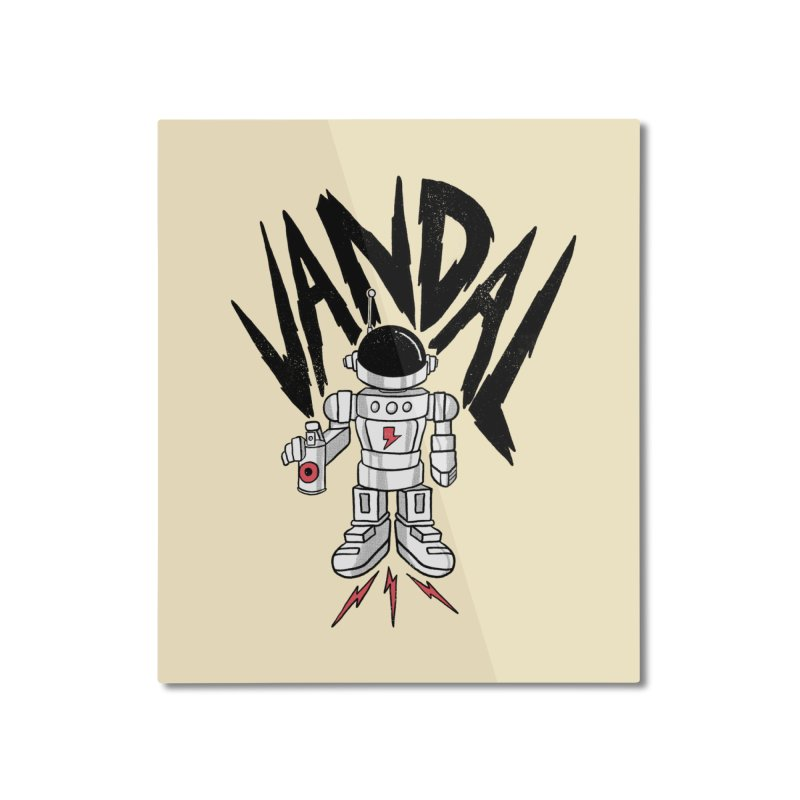 Vandal Home Mounted Aluminum Print by RJ Artworks's Artist Shop