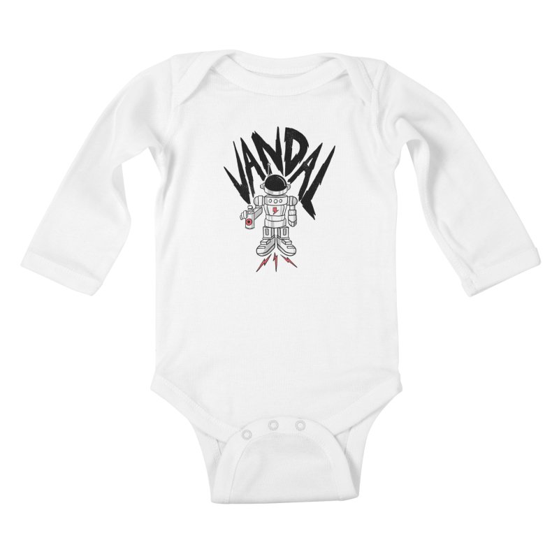 Vandal Kids Baby Longsleeve Bodysuit by RJ Artworks's Artist Shop